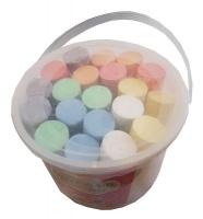 20 Jumbo Colour Chalk in a tub Photo