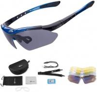 Rockbros Multi lens Polarized Sports Sunglasses UV Protection - Blue Photo