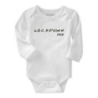 Qtees Africa - Lockdown 2020 Long Sleeve Baby Grow Photo