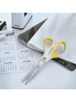 Leitz : Titanium Coated S/Steel Paper/Fabric Scissor - Yellow Soft Grip Photo