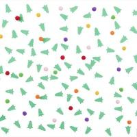 AK Christmas Confetti - Penguin And Christmas Trees Confetti Photo