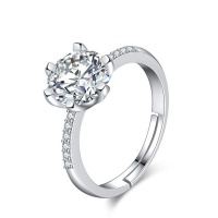 925 Sterling Silver Adjustable Wedding Ring Photo