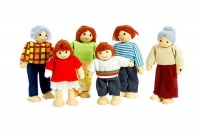 Wooden Doll Family Photo