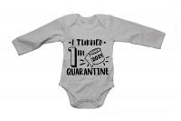 "I Turned 1"" Quarantine 2021 - Long Sleeve - Baby Grow Photo"