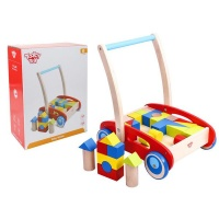 Tooky Toys Wooden Baby Walker With Blocks Photo
