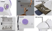 Portable Sewing Machine With Foot Pedal & Light & Line Cutter Photo