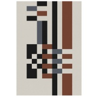 Carpet City Factory Shop Brown-Black and Grey Cream Rug 160x230 Photo