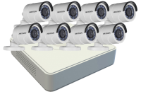 Hikvision 1MP Turbo HD 8 Channel Complete CCTV Kit Photo