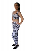 musQ Zebra Gym Outfit Top And Tights Photo