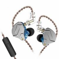 KZ Acoustics KZ ZSN Pro 1DD 1BA Hybrid Driver Earbuds with HD Mic - Blue Photo