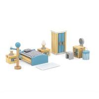 Viga Wooden Dollhouse Furniture Main Bedroom Photo