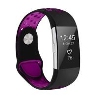 Killerdeals Fitbit Charge 2 Silicone Strap – Black & Purple - S/M Photo