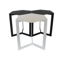 Fundi Light Living Fundi Light & Living Mosaic Side Table - White Photo
