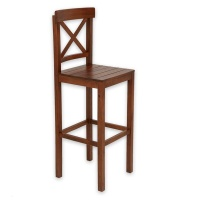 Decorist Home Gallery Walnut Bar Chair Photo