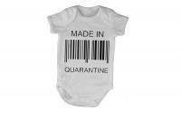 Made in Quarantine - Barcode - Short Sleeve - Baby Grow Photo