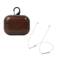 Charmza Luxury PU Leather Protective Case with Strap for Apple Airpods Pro Photo