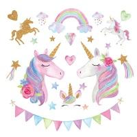 AOOYOU Cartoon Unicorn Vinyl Art Sticker for Wall Decoration Photo