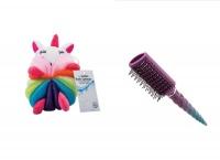 Unicorn Combo Set- bath Sponge and Hairbrush set Photo
