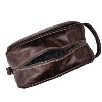 Dumi Jabu Genuine Leather Toiletry or Cosmetic bag | Ndebele inspired - Blue Photo