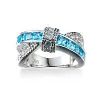 DHAO-Women's Wedding Ring Fashion Platinum Plated Zircon Ring Photo