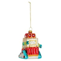 AK Glass Robot Christmas Decoration Photo