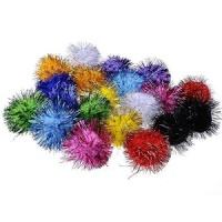 Sparkling Pom-Poms Assorted Colours Photo