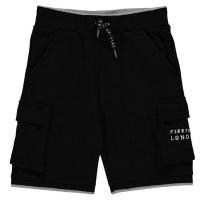 Firetrap Junior Boys Pique Shorts - Black [Parallel Import] Photo