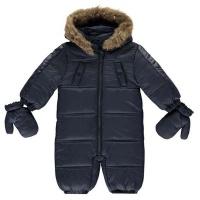 Firetrap Baby Boys Luxury Bubble Snowsuit - Navy Photo
