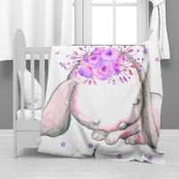 Print with Passion Sleeping Rabbit Minky Blanket Photo