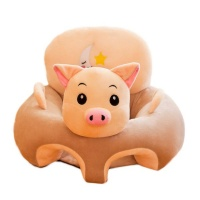 ATOUCHTOTHEWORLD Baby Sofa Support Seat Cover Plush Chair Learning To Sit - Pig Photo