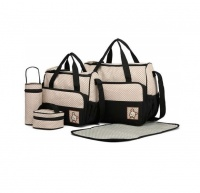 5 Pieces Baby Diaper Traveling Bag- Black Photo