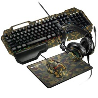 Canyon Argama 4in1 Gaming Set - Mechanical Keyboard Headphone Mouse Pad Photo