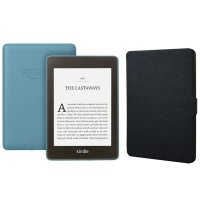 Kindle Paperwhite Wi-Fi With S/O 8GB Blue With Black Cover Photo