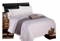 Relax Collection Sateen Stripe Cotton 300 TC Duvet Set By Photo