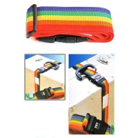 Mihuis Multi-Colour Suitcase Luggage Security Strap Belt with Lock Photo