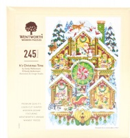 Wentworth Wooden Shaped Puzzle - It's Christmas Time Photo