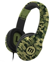 Maxell Full Size Padded Cup headphones with deep bass microphone - CAMO Photo