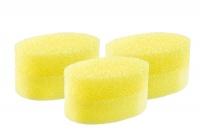 Bath Sponge Exfoliating Yellow oval - 3 Pack Photo