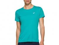 Asics Women Silver Short Sleeve Top Running/Training Top - Blue Photo