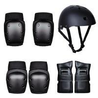 Mix Box Adult & Child Skateboard Balance Wheel Protector Pads & Helmet 7 Piece Set Photo