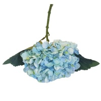 Seedleme Hydrangea 34cm Blue Plastic Artificial Faux Silk Plants by Photo