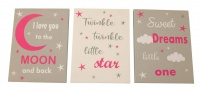 Wooden Wall Hanging - Baby Room - Love you to the Moon and Back Photo