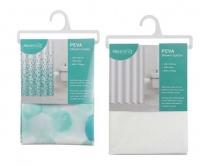 2 Shower Curtains Blue & White Photo