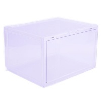Super Crew 6 pack Stack Up Series Plastic Clear Shoe Storage Box Photo