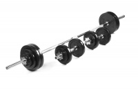 Everlast 50KG Barbell and Dumbbell Set Photo