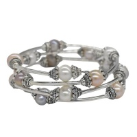 Lily Rose Lily & Rose 8mm Fresh Water Pearl Coil Bracelet Photo