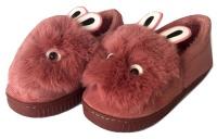 Winter Warm Kids Bunny Shoes Indoor& Outdoor Fleece Inner - Girls Pink Photo