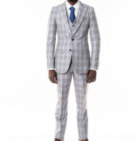 Men's Fane 3 Piece Suit - Marco Benetti - Blue Photo