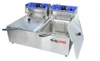 Totally Home 6L 6L Double Pan Deep Fryer with DryBoil & Overheat Protect Photo