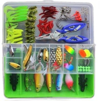 101 Piece Fishing Lure Bait Set With Tackle Box Photo